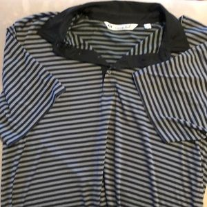 Travis Matthew blue and gray polo shirt men's